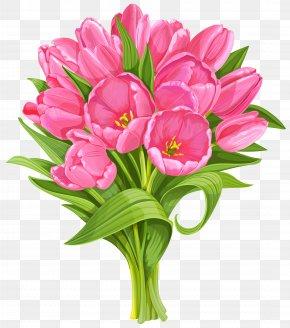Tulips Bouquet Transparent Clip Art - Flower Bouquet Tulip Clip Art PNG