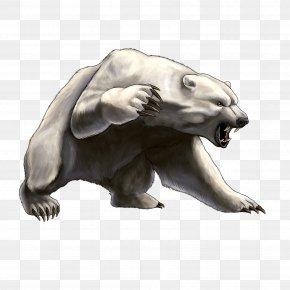 White Angry Bear Image - Polar Bear Brown Bear Clip Art PNG