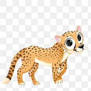 Vector Lovely Leopard - Cartoon Fauna Of Africa Clip Art PNG