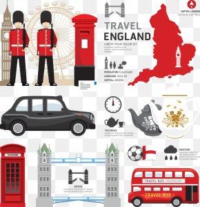 Flat TourismUnited Kingdom - London Royalty-free Euclidean Vector Clip Art PNG