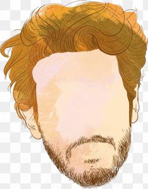 Vector Painted Beard Man - Man Beard Hairstyle PNG