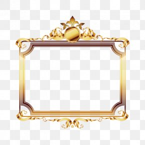 Beautiful Luxury Gold Frame - Picture Frame Gold Film Frame Luxury PNG