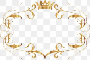 Beautiful Gold Pattern Frame - Text Box Gold PNG