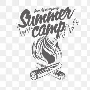 Summer Camp,English Alphabet,Fire,outdoor - Camping Typography Shutterstock PNG