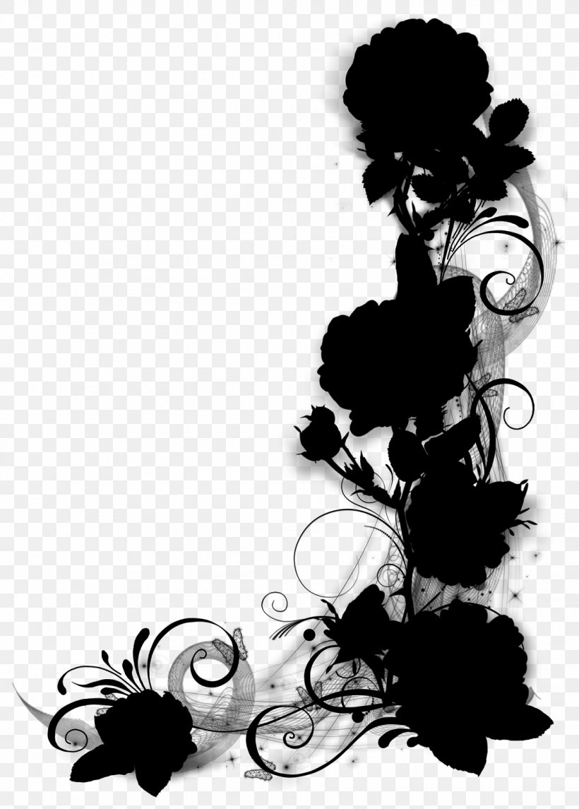 Clip Art Borders And Frames Illustration Silhouette Design, PNG, 1145x1600px, Borders And Frames, Art, Black Hair, Blackandwhite, Decoupage Download Free