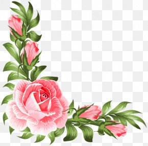 Design - Garden Roses Floral Design Clip Art PNG