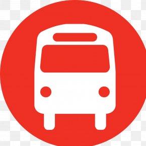 Red Bus Icon - School Bus San Diego Metropolitan Transit System Bus Stop PNG