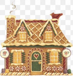 Gingerbread House - Gingerbread House Clip Art Santa Claus Gingerbread Christmas PNG