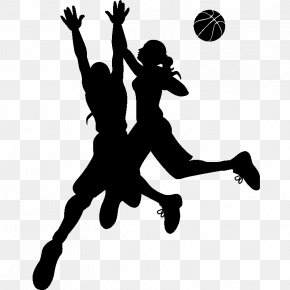 Silhouette - Wall Decal Silhouette Basketball Sport Sticker PNG