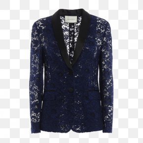 Ms. Hollow Lace Decorative Pattern Jacket - Blazer Lace Jacket Tuxedo Collar PNG