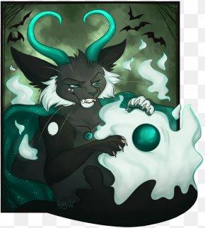 Miaodrawing - Cartoon Green Legendary Creature Illustration Animal PNG