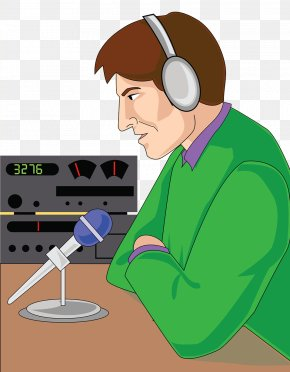 Radio Program Host - Microphone Cartoon Radio Personality Illustration PNG