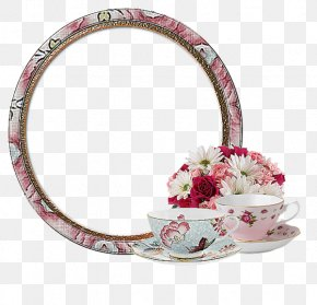 Cups And Round Frame - Picture Frame Blog Photography PNG
