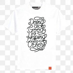 T-shirt - T-shirt White Logo Sleeve PNG