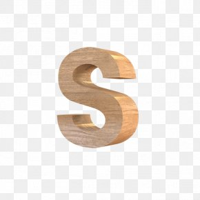 Wood S - Wood Letter English Alphabet PNG