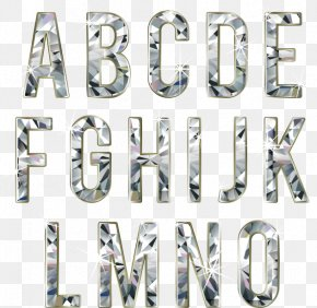 Diamond Letter Material Effect - Diamond Letter Font PNG