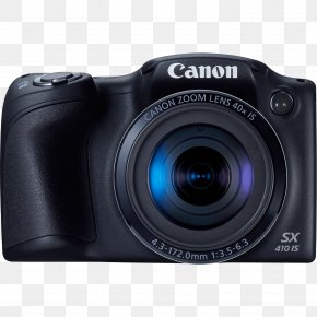 720pBlack Canon PowerShot SX410 Is 20.0 MP Digital CameraBlack + 32GB Top AccessoriesCamera Shooting - Canon Digital IXUS Canon PowerShot SX410 IS 20.0 MP Compact Digital Camera PNG