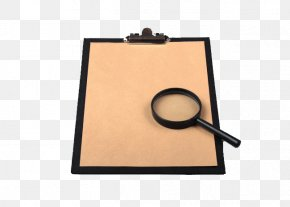Magnifying Glass And Board - Paper Magnifying Glass PNG