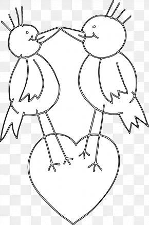 Black Love Art Images - Bird Black And White Heart Clip Art PNG