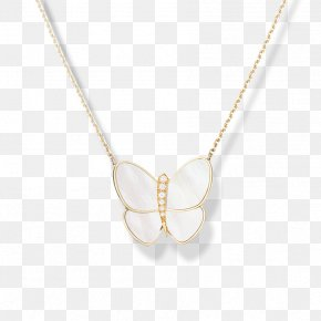 Gold Butterfly - Locket Necklace Earring Jewellery Gold PNG