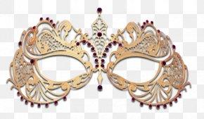 Gold Metal - Masquerade Ball Columbina Mask Gold PNG