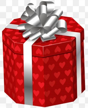 Gift Box With Hearts Clip Art Image - Image File Formats Lossless Compression PNG