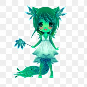 Doll - Green Doll Legendary Creature PNG
