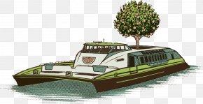 Hand-painted Fruit Yacht - Australia Yacht Illustrator Illustration PNG