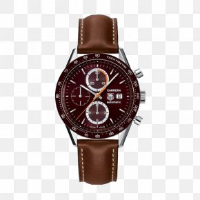 TAG,Heuer Leather Strap Mechanical Watches - Automatic Watch TAG Heuer Chronograph Tachymeter PNG