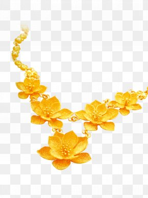 Gold Necklace Vector Material - Necklace Jewellery Gold PNG
