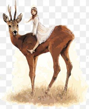 Elk,deer - Celtic Faeries Baltimore & Redingote Goblin Fairy Illustrator PNG