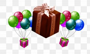 Lovely Gifts - Balloon Gift Box PNG