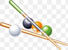 Billiards Vector Material - Cue Stick Billiards Pool Billiard Table PNG