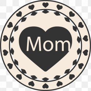 Mother's Day Circular Element - Mother's Day Gift Paper PNG
