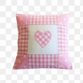 Love Pink Plaid Pillow - Pillow Cushion Cotton Dakimakura Textile PNG