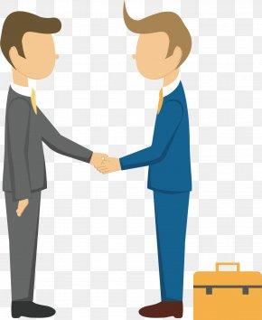 Handshake Man - Clip Art PNG