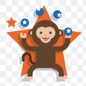 Vector Animal Monkey - Monkey Circus PNG