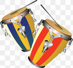 Vector Hand-painted Drums - Tom-tom Drum Conga Percussion Musical Instrument PNG