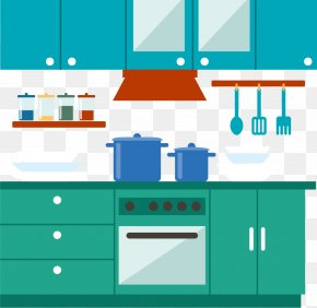 The Central Kitchen Of The Family - Kitchen Interior Design Services Illustration PNG