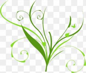 Vine - Leaf Clip Art Plant Stem Flower Line PNG