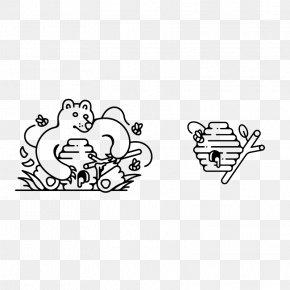 Flat Design Honey Bear - Flat Design Graphic Design Illustration PNG