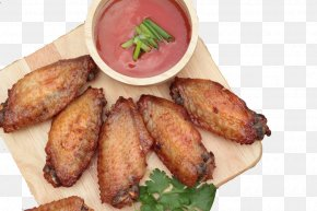 Fried Chicken Wings - Fried Chicken Buffalo Wing Barbecue Potato Wedges PNG