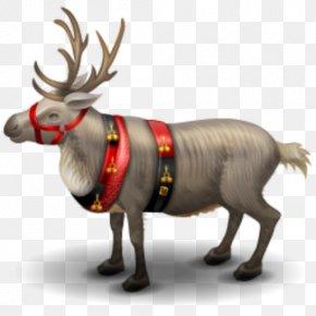 Reindeer - Reindeer Gingerbread House Santa Claus PNG