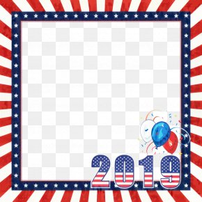 Rectangle Picture Frame - Fourth Of July Background PNG