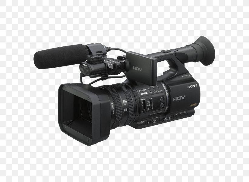 Sony HVR-Z5E HDV Video Cameras High-definition Television, PNG, 600x600px, Hdv, Active Pixel Sensor, Camera, Camera Accessory, Camera Lens Download Free