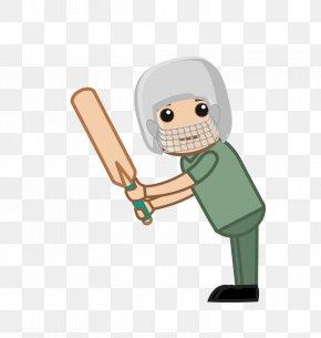 Cartoon Playing Cricket Players - Cricket Cartoon Royalty-free PNG