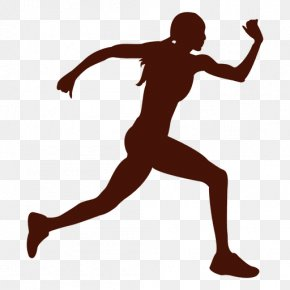 Run - Athlete Silhouette Running PNG