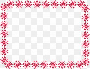 Handprint Border - Borders And Frames Santa Claus Christmas Picture Frames Clip Art PNG
