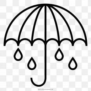 Umbrella - Drawing Umbrella Rain Coloring Book PNG
