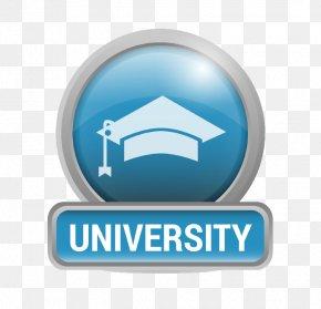 Campus Metallic Logo Vector Material - Logo University PNG